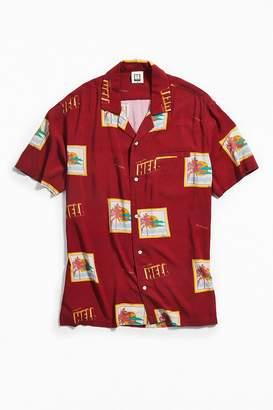 Insight Postcards Short Sleeve Button-Down Shirt