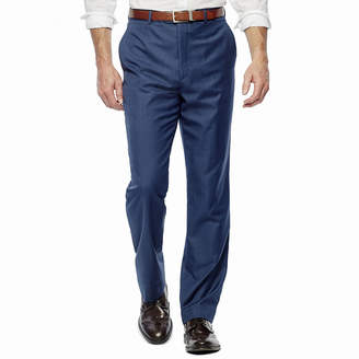 STAFFORD Stafford Travel Medium Blue Flat-Front Suit Pants - Slim Fit