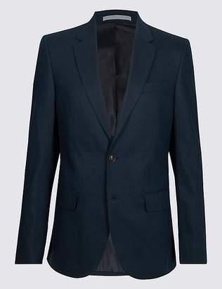 Marks and Spencer Linen Blend Regular Fit Jacket
