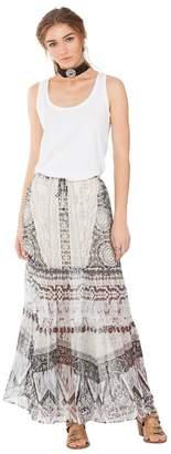 Hale Bob Brittany Silk Maxi Skirt