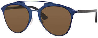"Dior ""Dior Reflected"" Two-Tone Aviator Sunglasses, Blue/Gold $450 thestylecure.com"