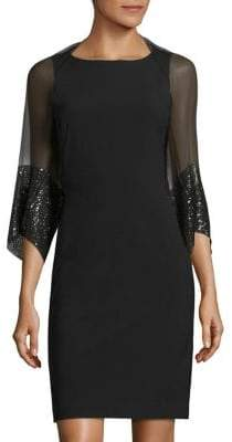 Saks Fifth Avenue Sequined Silk Shrug