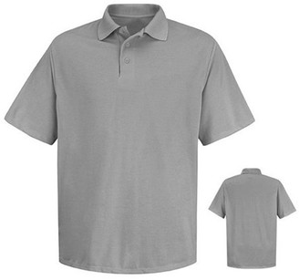 Red Kap Men's Short Sleeve Spun Polyester Pocketless Polo