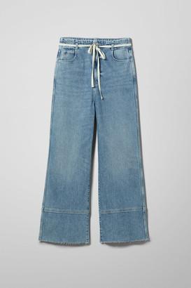 Weekday Slack Marble Blue Jeans - Blue