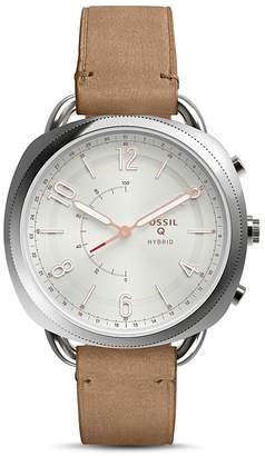 Fossil Q Accomplice Slim Hybrid Leather Strap Smartwatch, 38mm