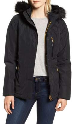 Barbour International Aragon Waterproof Breathable Faux Fur Trim Jacket