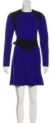 Sonia Rykiel Sonia by Wool Flare Dress