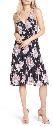 Women's Leith Surplice Floral Print Midi Dress