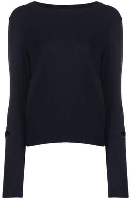 Stefano Mortari cut out slim-fitted pullover