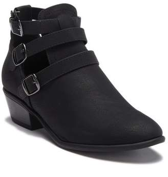 Wild Diva Lounge Manny Strappy Buckle Ankle Bootie