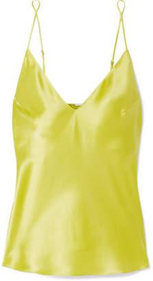 Fleur Du Mal Silk-satin Camisole - Chartreuse
