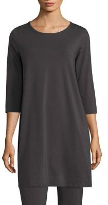 Eileen Fisher Solid Jersey Tunic $138 thestylecure.com