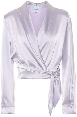 Nanushka Salome satin top