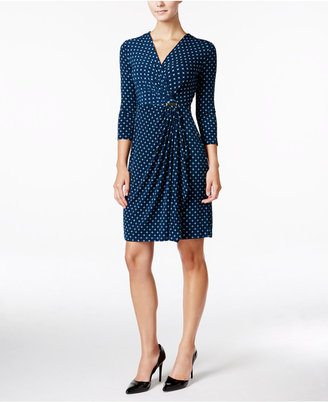 Charter Club Printed Faux-Wrap Dress, Only at Macy's $89.50 thestylecure.com