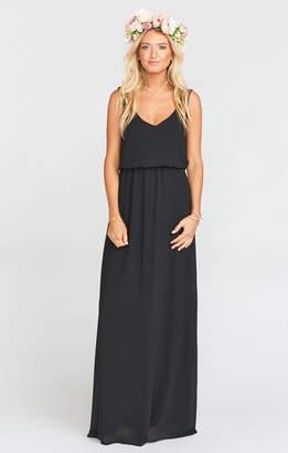 Show Me Your Mumu Kendall Maxi Dress ~ Black Chiffon
