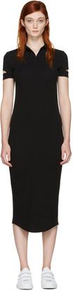 Helmut Lang Black Ribbed Shirt Dress $295 thestylecure.com