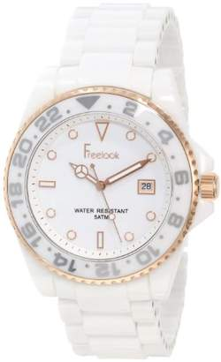 Freelook Women's Quartz Stainless Steel and Ceramic Casual Watch