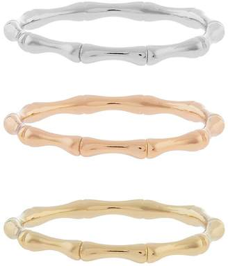 Accessorize 3x Bamboo Rings
