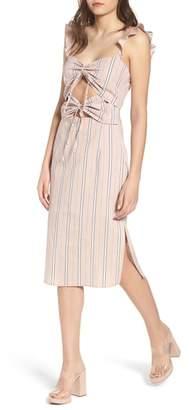WAYF Verona Cutout Midi Dress