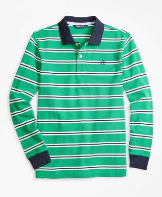 Brooks Brothers Cotton Long-Sleeve Stripe Polo Shirt