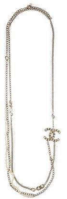 Chanel CC Faux Pearl Multistrand Necklace