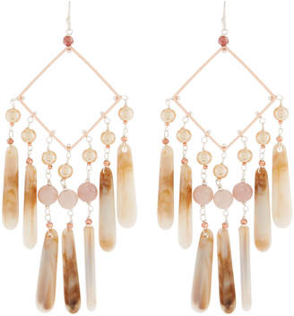 Nakamol Pearl & Teardrop Dangle Earrings