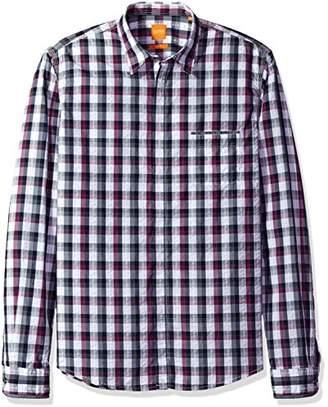 HUGO BOSS BOSS Orange Men's Eclash Long Sleeve Check Shirt