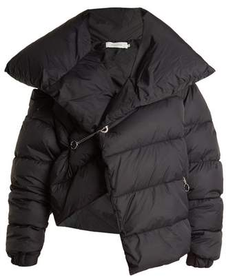 Marques Almeida Marques'almeida - Asymmetric Quilted Down Coat - Womens - Black