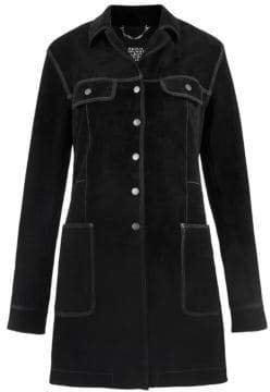 Marc Jacobs Women's Redux Grunge Suede Overcoat - Black - Size 4
