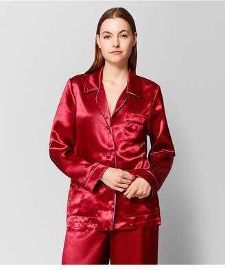 Bottega Veneta Baccara Rose Satin Top
