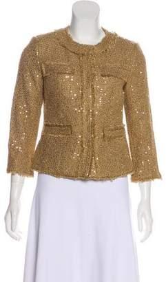 MICHAEL Michael Kors Bouclé Sequin Casual Jacket