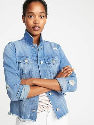 Old Navy Raw-Hem Denim Jacket for Women