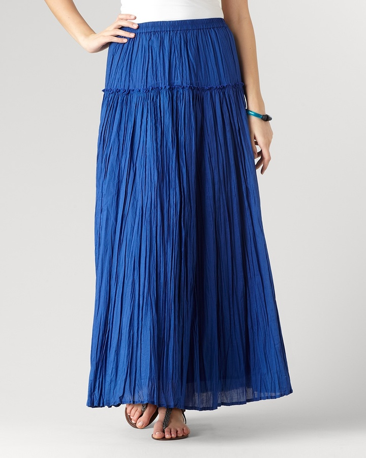 Coldwater Creek Romantic tiered maxi skirt