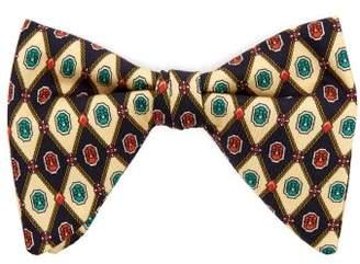 Gucci Geometric Print Silk Faille Bow Tie - Mens - Multi