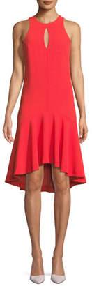 Trina Turk Keyhole High-Low Petal Sleeveless Dress