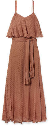 Mes Demoiselles Donatella Fil Coupe Voile Maxi Dress - Tan