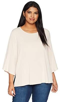 Rachel Roy Women's Plus Size Knit Bell Sleeve Top