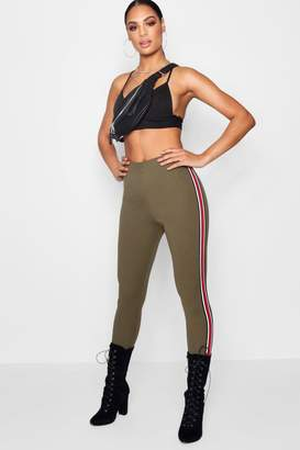 boohoo Lydia Side Stripe Legging