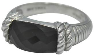 Judith Ripka 925 Sterling Silver Domed Onyx Rope Ring Size 10