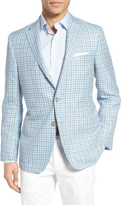 Men's Hickey Freeman Classic Fit Check Wool Blend Sport Coat $1,495 thestylecure.com