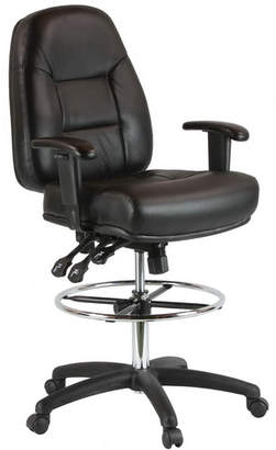 Harwick Mid-Back Leather Drafting Chair