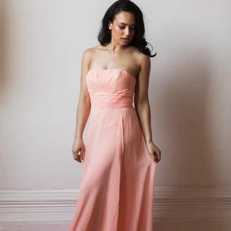 Matchimony Floor Length Strapless Bridesmaid Or Prom Dress