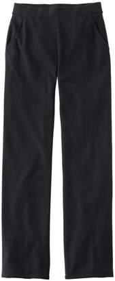L.L. Bean L.L.Bean Perfect Fit Pants, Fleece-Backed Straight-Leg
