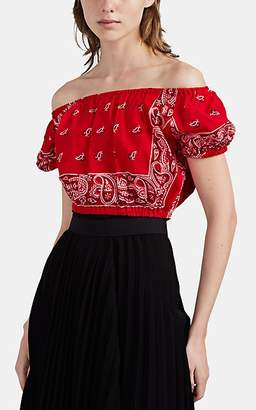 Couture Forte Dei Marmi Women's Bandana-Print Off-The-Shoulder Top - Red