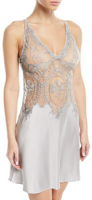 I.D. Sarrieri Coupe de Foudre Silk Lace Chemise Nightgown