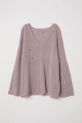 H&M V-neck Sweater - Brown