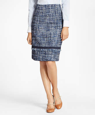 Brooks Brothers Petite Shimmer Boucle Skirt