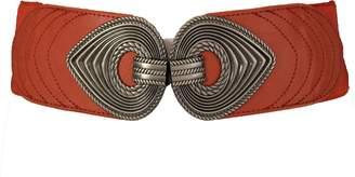 Trendy Fashion Jewelry TFJ Women Fashion Elastic Wide Belt Hip High Waist Big Eyes Shape Buckle S M