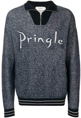 Pringle funnel neck logo sweatshirt