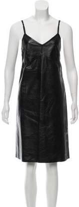 Helmut Lang Leather Slip Dress w/ Tags